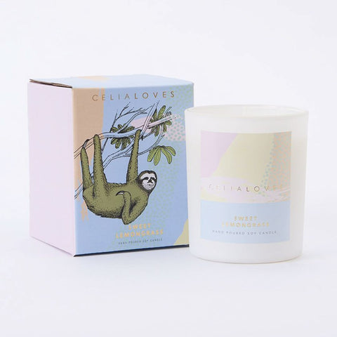 Celia Loves sweet lemongrass candle elsie and florence