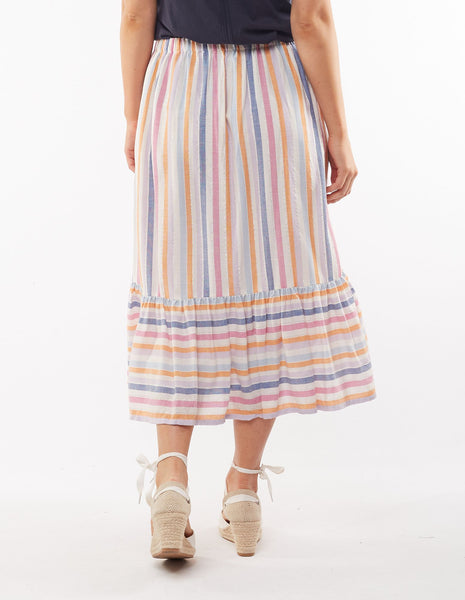 Sunset Stripe Skirt