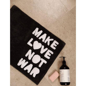 Make Love Not War BathMat | Charcoal