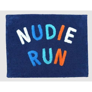 Nudie Run Bath Mat | Navy Multi
