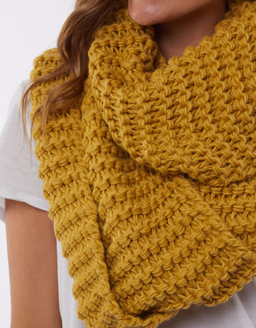 Organic Loop Scarf | Yellow