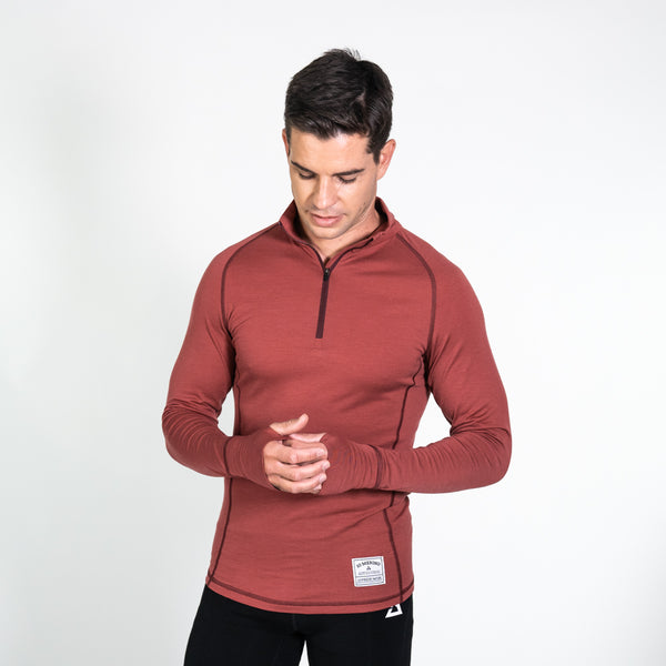Men's merino wool zip