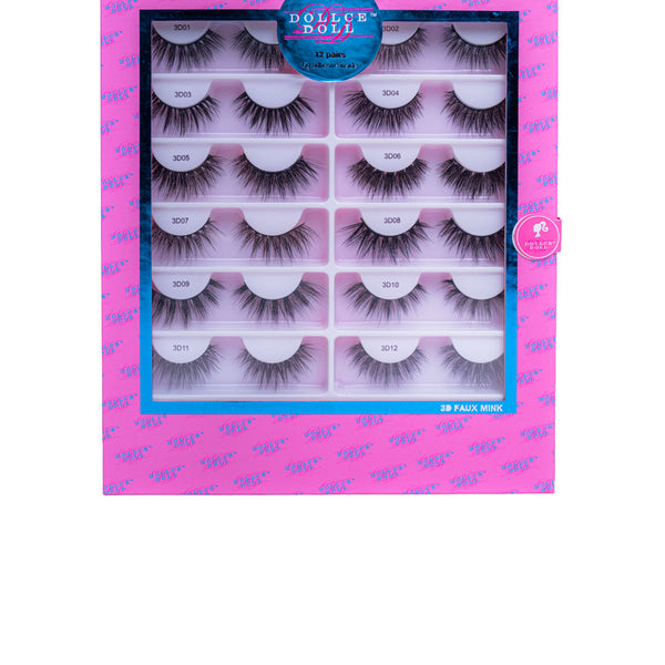 3D Faux Mink Strip Lashes (Vegan) All 12 Styles
