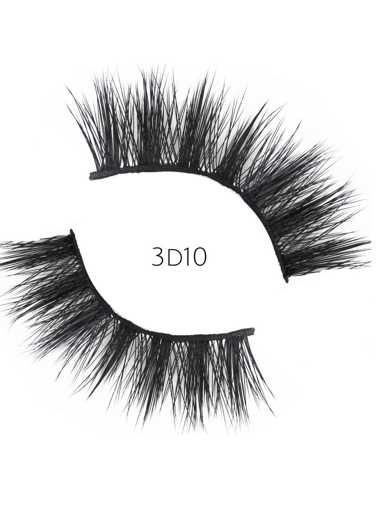 3D 10 Faux Mink Strip Lashes (Vegan)