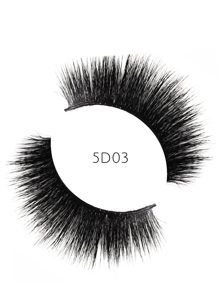 5D 03 Luxury Mink Strip Lashes (Vegan)