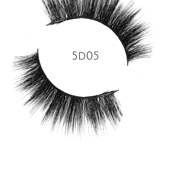 5D 05 Luxury Mink Strip Lashes (Vegan)