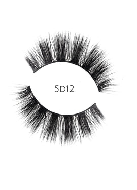 5D 12 Luxury Mink Strip Lashes (Vegan)