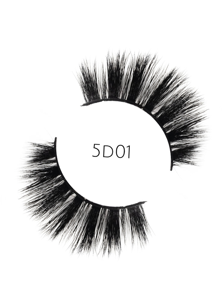 5D 01 Luxury Mink Strip Lashes (Vegan)
