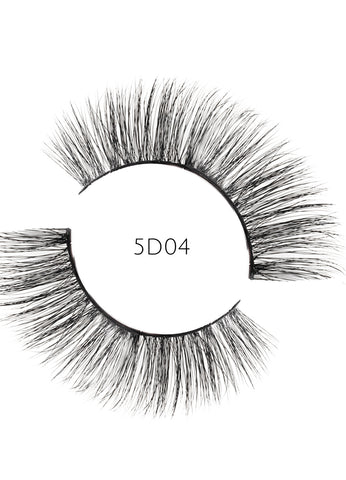 5D 04 Luxury Mink Strip Lashes (Vegan)
