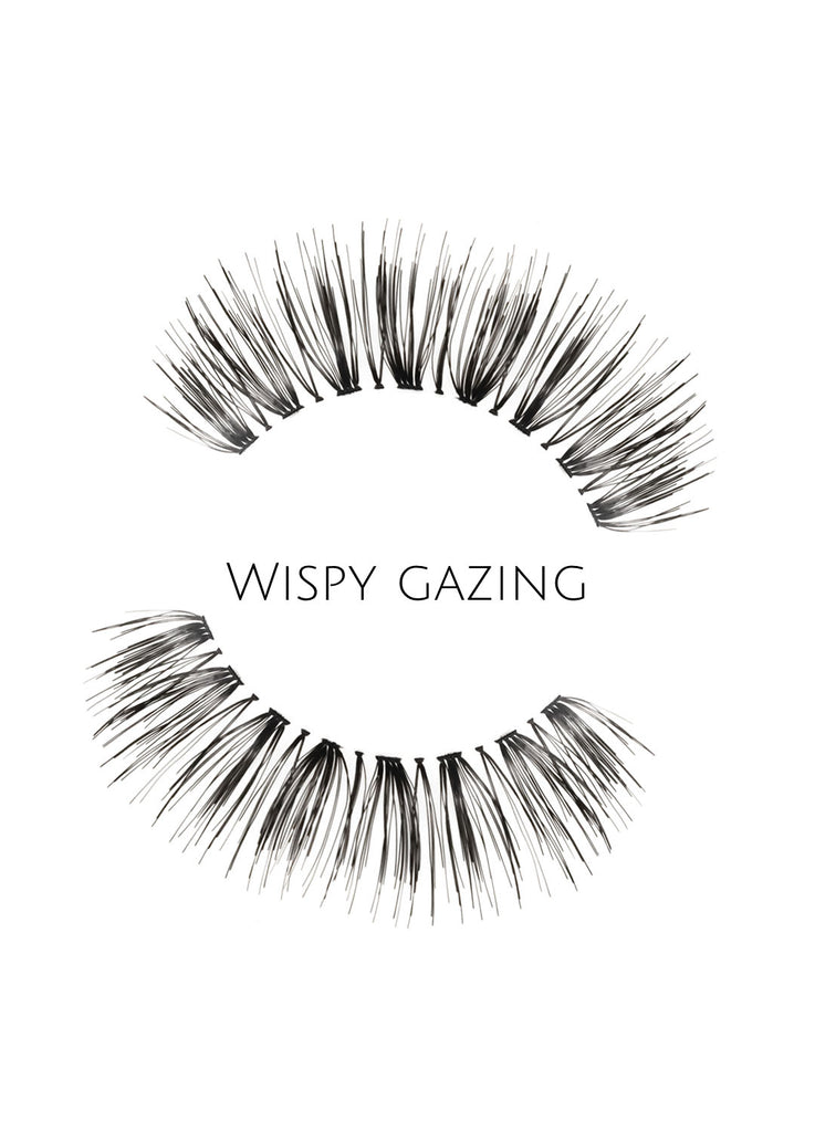 Wispy Gazing Human Hair Strip Lashes