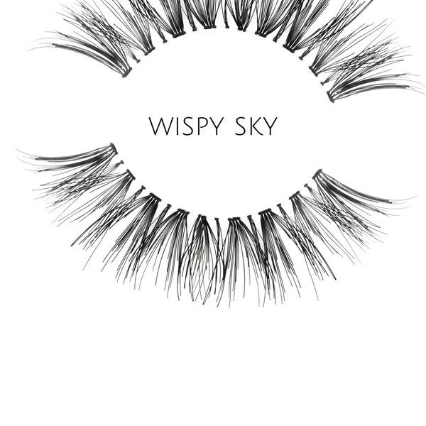 Wispy Sky Human Hair Strip Lashes