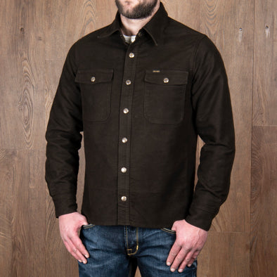 1943 CPO  Shirt Moleskin Brown - Pike Brothers