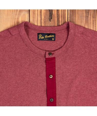 Henley Shirt long sleeve Granate Red - Pike Brothers