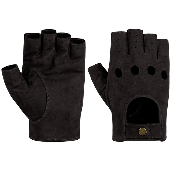 Stetson - Racing Gloves, Goat/Nubuck Black