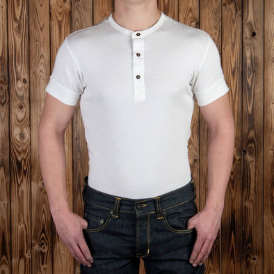 1927 Henley Shirt short sleeve ecru white