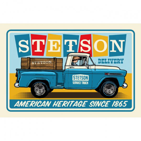 Stetson - Chevy Pick Up Metal Display