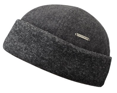 Stetson - Docker Hat in Grey, Wool/Cashmere