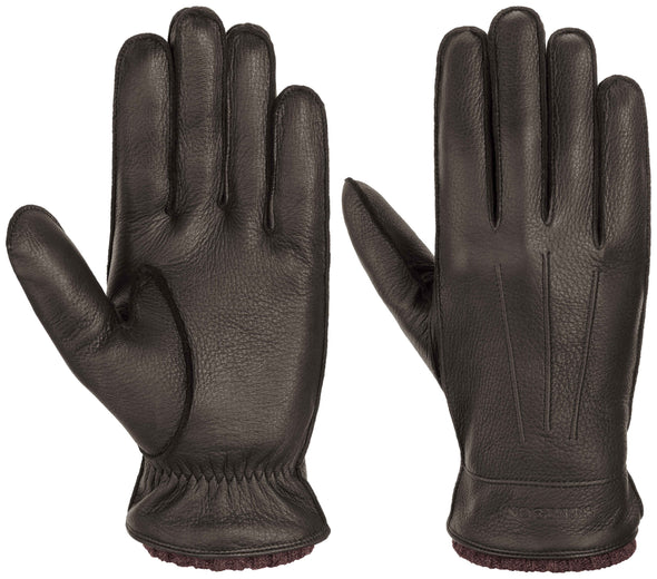 Deer Cashmere Leather Gloves,  Brown - Stetson