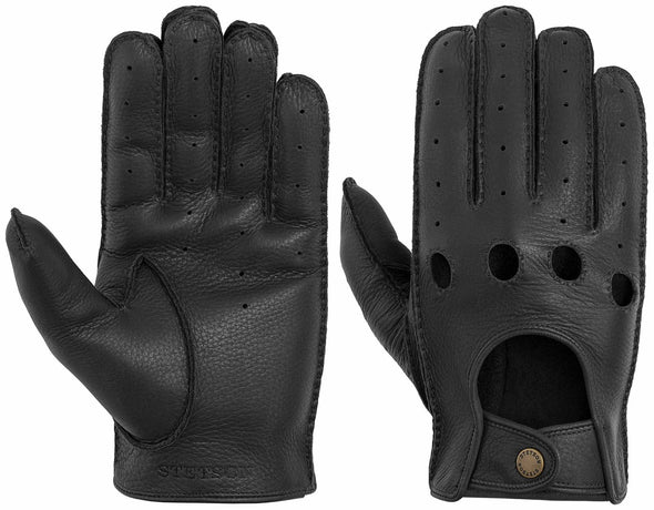 Driving Gloves Black, Deer Nappa - Stetson