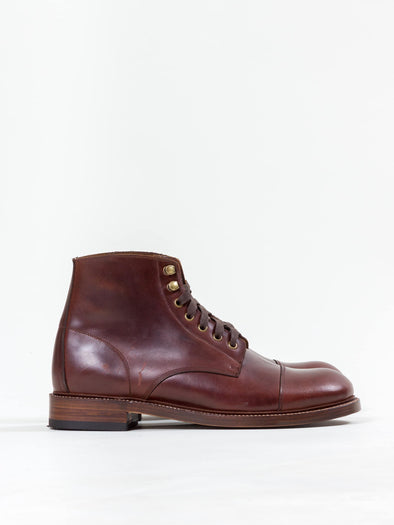 Lace Boot, Chestnut Brown - Uncle Bright