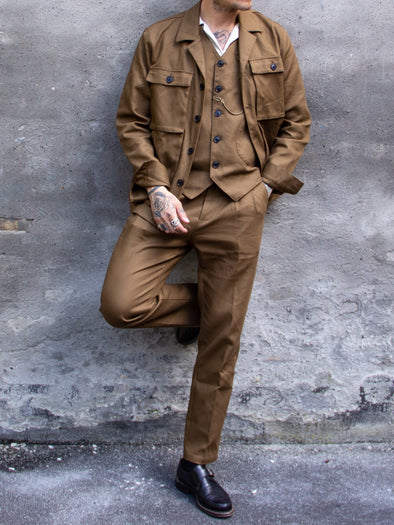 Jean Twill Brown Jacket - Uncle Bright
