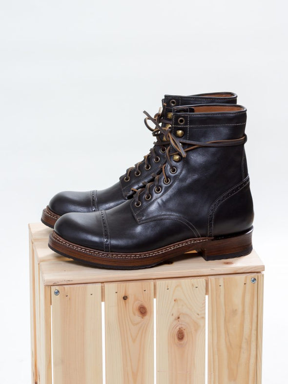 Combat Boot, Black Ox - Uncle Bright