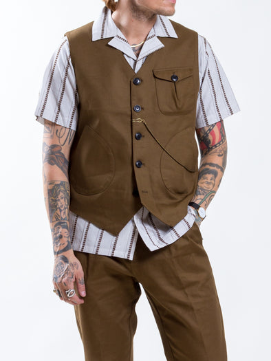 Uncle Bright - Harry Twill Brown Vest