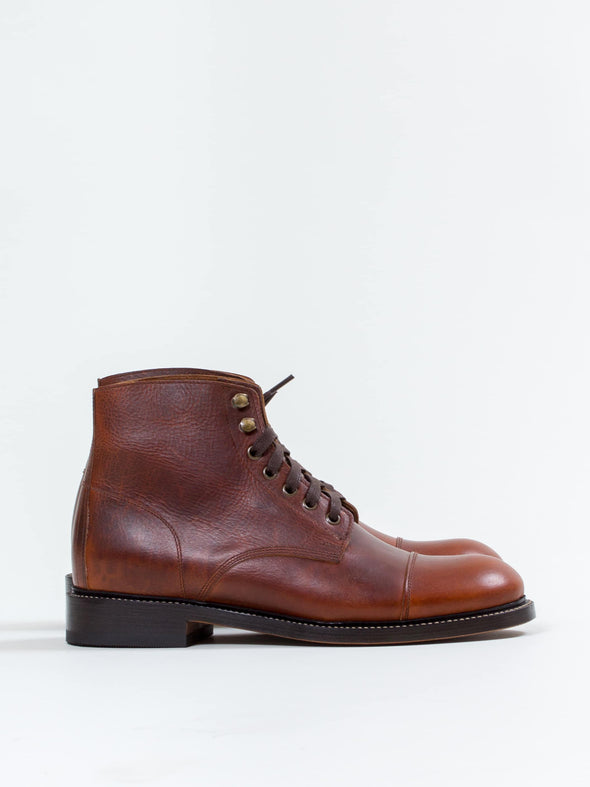 Lace Boot, Wax Caramel - Uncle Bright