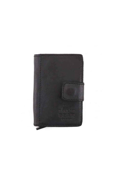 Leather Cardholder, Black - Bear
