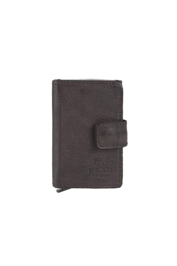 Leather Cardholder, Brown - Bear