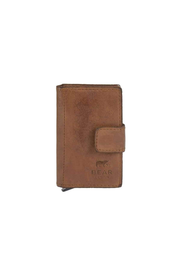 Leather Cardholder, Cognac - Bear
