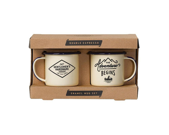 Espresso mugs - The Adventure Begins - Gentlemens Hardware
