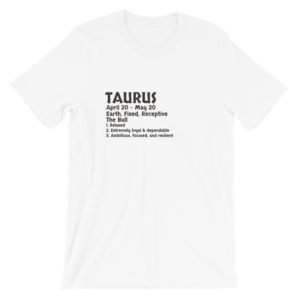 Taurus Definition T-Shirt
