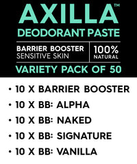 Axilla™ Deodorant Paste Barrier Booster – Variety pack of 50