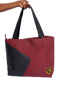 Namuddu Shweshwe Tote Bag - Red Black