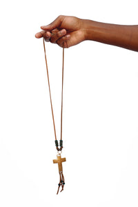 Bronze Cross Pendant Bohemian Necklace