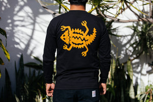 T-Shirt - Long Sleeve - Horned Lizard with Classic Script