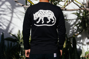 T-Shirt - Long Sleeve - Jackal with Classic Script