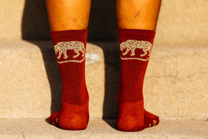Socks - Jackal - Jasper Red Heathered Wool