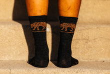 Load image into Gallery viewer, Socks - Jackal - Obsidian Black Heathered Wool