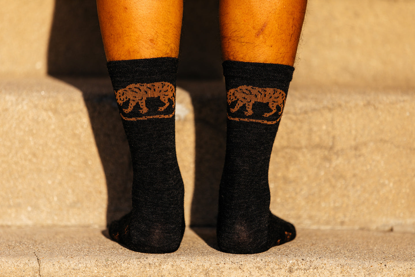 Socks - Jackal - Obsidian Black Heathered Wool