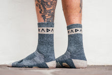 Load image into Gallery viewer, Socks - Woolie - Radavist Rune Stripe - Juniper