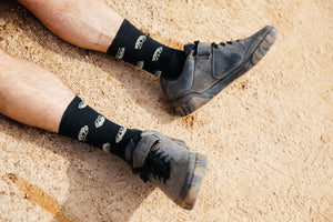 All Over Jackal Socks in Black