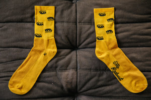 All Over Jackal Socks in Marigold
