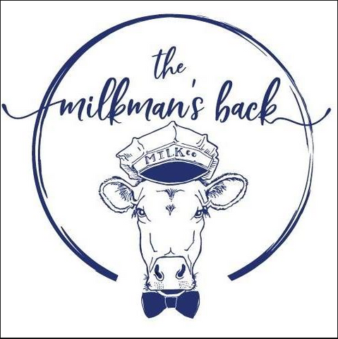 The Milkman's back. Cow with a hat and bowtie