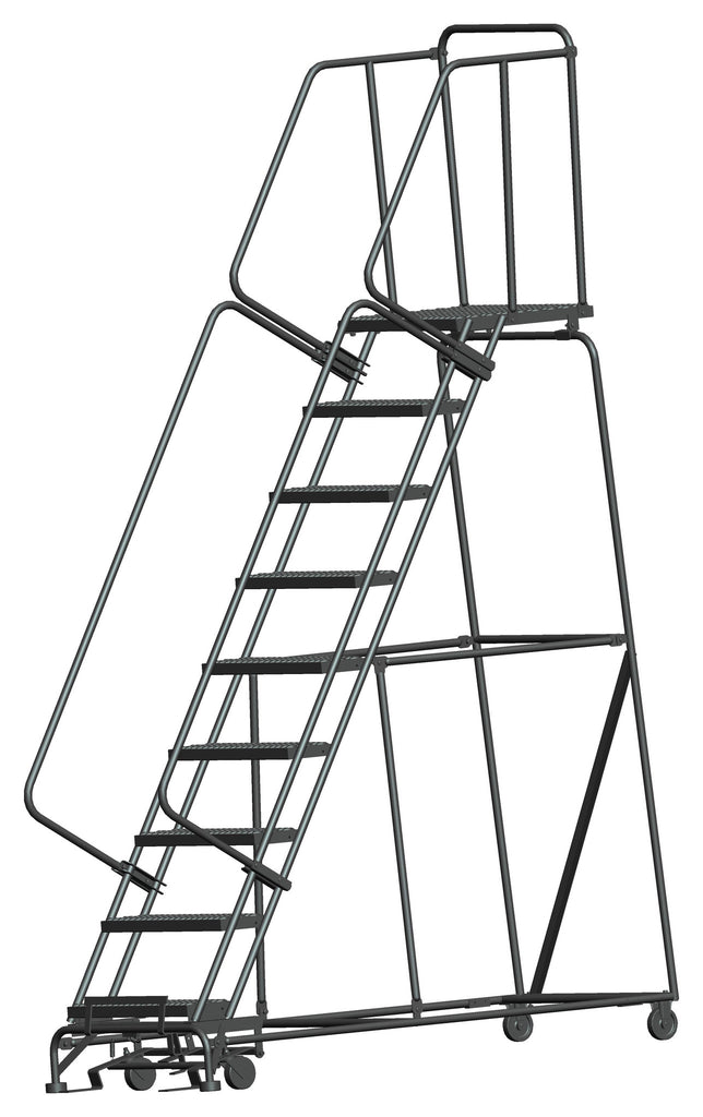 Balleymore Serrated Grating Rolling Ladders