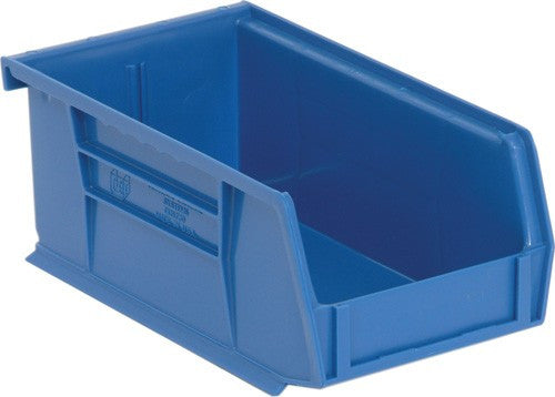 "Color Stack and Hang Bins | Quantum Storage | Model QUS220 | Blue |7-3/8"" x 4-1/8"" x 3"""