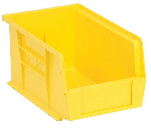 "Yellow Stack and Hang Storage Bins 9 1/4"" x 6"" x 5"" 12 Pack 
