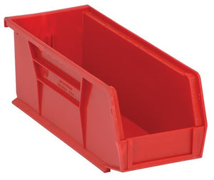 "Stack and Hang Bins | Red | 10 7/8"" x 4 1/8"" x 4"""