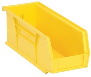 "Storage | Stack and Hang Bins | Yellow | 10 7/8"" x 4 1/8"" x 4"" 